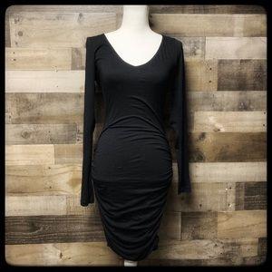 Velvet by Graham & Spencer black ruched M dress